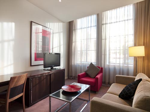 Medina Executive Sydney Central One Bedroom Apartment Lounge